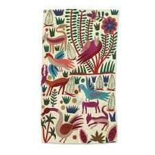 chain stitched animal themed wool area rug 3x5 from india the jungle world ii novica