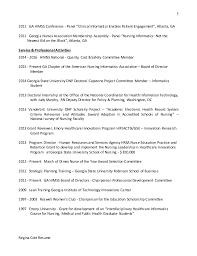 5 regina cole resume - Sample Nursing Informatics Resume