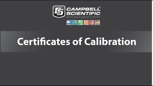 Campbell Scientific Downloadable Certificates Of Calibration