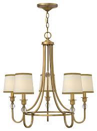 hinkley 4875br morgan transitional 27 inch diameter 5 lamp brushed bronze chandelier loading zoom