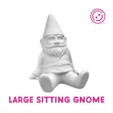 paint your own large sitting gnome