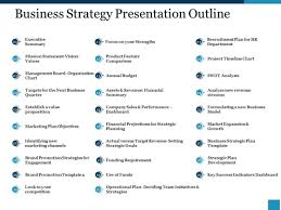 Strategy Presentation Business Strategy Presentation Outline Ppt Powerpoint