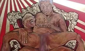 Outrage over Nelson Mandela sex act painting | Daily Mail Online