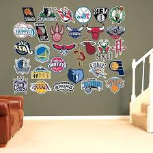 nba wall decals logo collection wall decals and logos wall murals nba player wall decals