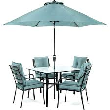 patio table umbrella hole grommet outdoor dining set with white u
