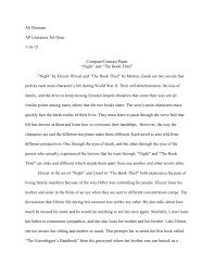 a p literature compare contrast essay