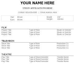 headshot resume format resume format - Headshot Resume Format