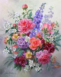 albert williams 1922 2010 bouquet of summer flowers 24 x 20in