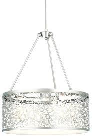 drum chandeliers hanging lights the home depot regarding attractive in brushed nickel chandelier remodel 1