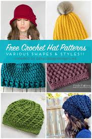 Crochet Hat Patterns Free Beauteous Free Crochet Hat Patterns Daisy Cottage Designs