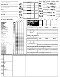 pokemon tabletop character sheet pf as promised single page pathfinder character sheet rpg