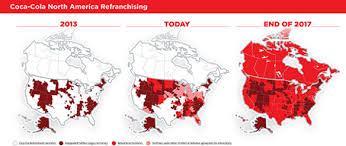 coca cola distribution coca cola accelerates bottler refranchising in north america the