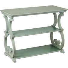 Design Toscano Saffron Hill Console Table Sei Bradbury Scroll Console Table Antiqued Agate Green