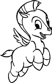 Smile Baby Pegasus Coloring Pages Wecoloringpagecom