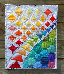 80 best Rainbow Quilts images on Pinterest | Children, Colors and Eyes & I like the way this #rainbow #quilt uses different kinds of piecing Adamdwight.com