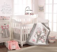 Levtex Baby Night Owl 5 Piece Crib Bedding Set - Pink