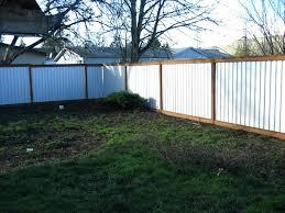 corrugated metal privacy fence. Wonderful Metal Metal Privacy Fence Panels Out Of Corrugated Solid   And Corrugated Metal Privacy Fence T