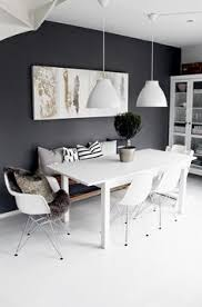 eames chairs love fur and black wall