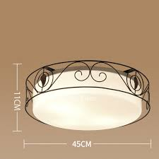 flush mount ceiling lights wrought iron glass country bedroom vintage regarding glass flush mount ceiling light