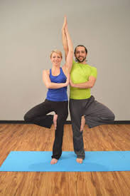 partner tree pose and yoga miracle pose