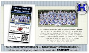 Forms Hanover Warriors Youth Football League
