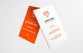 30 Free Vertical Business Card Mockups Psd Templates