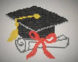 Counted Cross Stitch Pattern Pdf Graduation Cap Cross