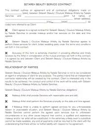 makeup artist contract makeup artist client consultation form bridal