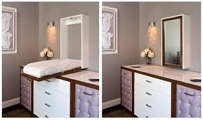 Guest mirror/changing table- great use of space for guest room/ baby room