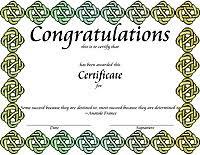Congratulation Certificate Award Certificate Templates