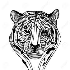 Tiger Head Vector Animal Illustration For T Shirt Sketch Tattoo
