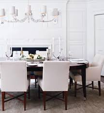 stunning white upholstered dining chair espresso dining table with cream upholstered dining chairs