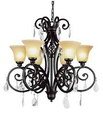 trans globe lighting 9936 dbz vintage scroll 6 light 30 inch dark bronze chandelier ceiling light