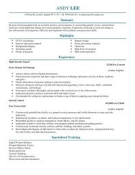 Northrop Grumman Security Officer Sample Resume