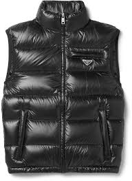 men s fashion jackets gilets black quilted gilets prada quilted ripstop down gilet