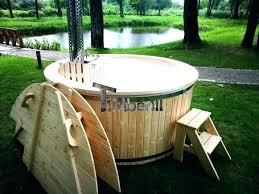 outdoor bathtub diy wood hot tub outdoor bathtub wood fired burning hot tub with snorkel heater