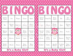 Baby Shower Bingo Cards Printable