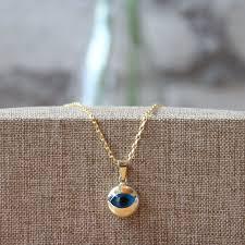detalles acerca de 14k oro amarillo sólido encanto colgante redondo turco evil eye joyería de buena suerte mostrar título original