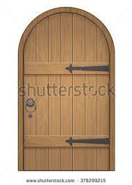 wood furniture door. Old Wooden Arch Door. Closed Door, Made Of Planks, With Iron Hinges Wood Furniture Door