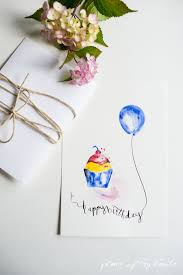 Free Watercolor Birthday Printables Place Of My Taste
