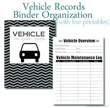 Equipment Maintenance Log Template Free Excel Vehicle Service Record
