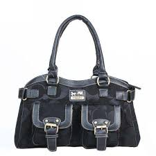 HighQualityCoach 2014 Newest Coach Legacy Logo Signature Medium Black  Satchels DQH Has Distinct Style And High-Top Quality!
