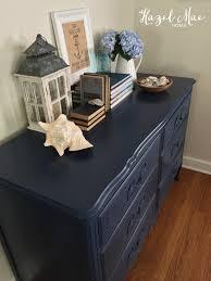 Navy Blue Dresser Bedroom Furniture Nautical Dresser In Annie Sloan Napoleonic Blue Hazel Mae Home