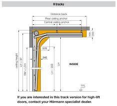 sectional garage door high lift mechanism