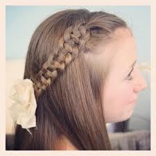 Pretty Girls Hairstyle 4strand slideup braid pullback hairstyles cute girls hairstyles 5419 by stevesalt.us