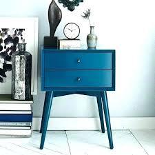 mid century modern bedside table. Navy Blue Nightstands Modern Bedside Tables Furniture Table Mid Century