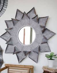 large metal flower mirror wall art on large metal mirror wall art with large metal flower mirror wall art trendy essential decor home