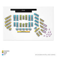 Excalibur Seating Chart Thunder From Down Under Las Vegas Tickets 9 28 2019 11 00