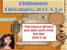 philippine literature from to present