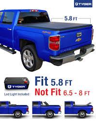 TYGER TriFold Tonneau Truck Bed Cover For 2014 Silverado/Sierra ...